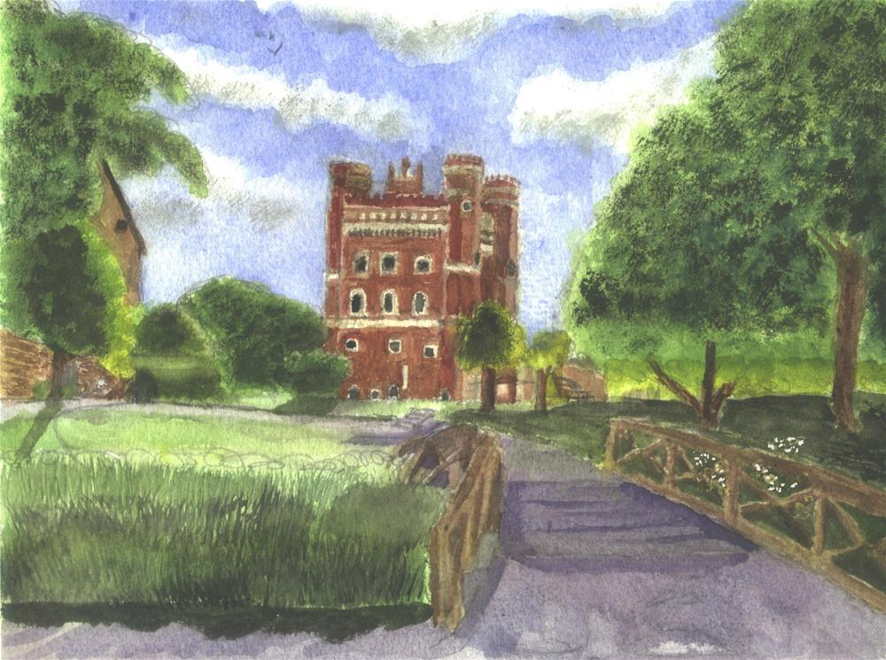 """Tattershall Castle Lincolnshire"" original fine art by Michelle Archer"