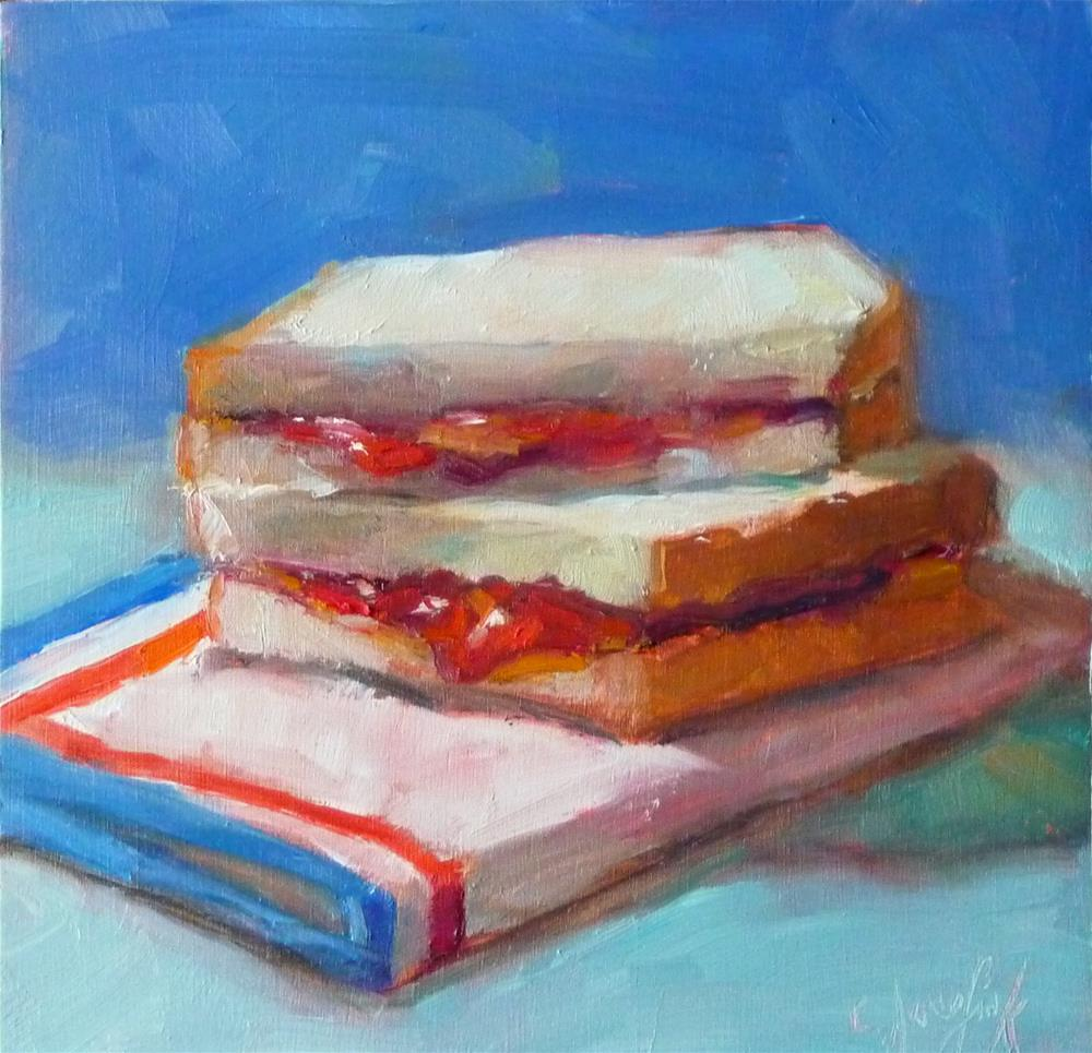 """One more PB and J"" original fine art by Carol Josefiak"
