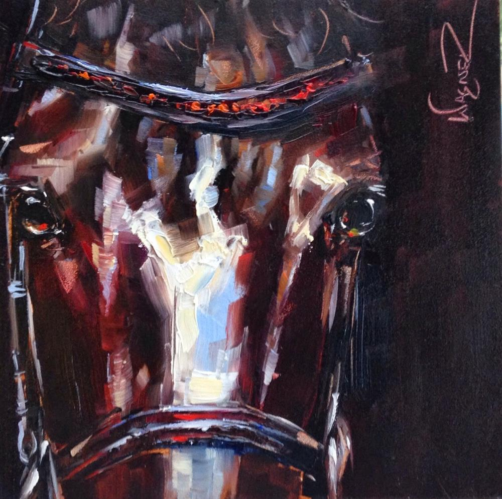"""Loving Color Day 9 - ORIGINAL DRESSAGE HORSE PAINTING in OILS by OLGA WAGNER"" original fine art by Olga Wagner"