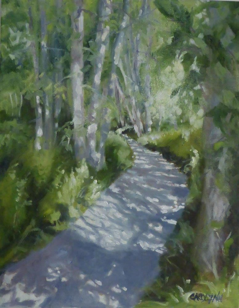 """Magic Light - Crescent Beach Trail"" original fine art by Carolynn Doan"