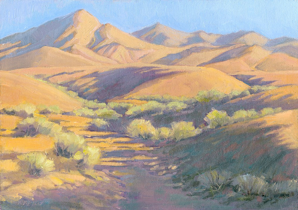 """Red Hills"" original fine art by Kath Reilly"