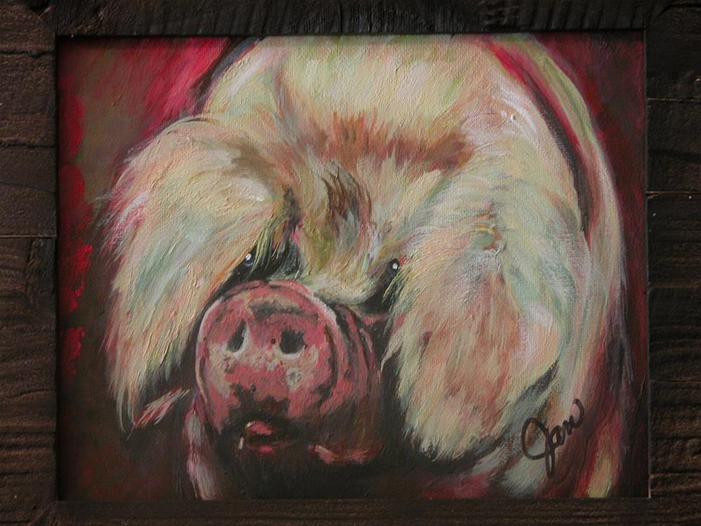 """China sow"" original fine art by Janice Freischlag"