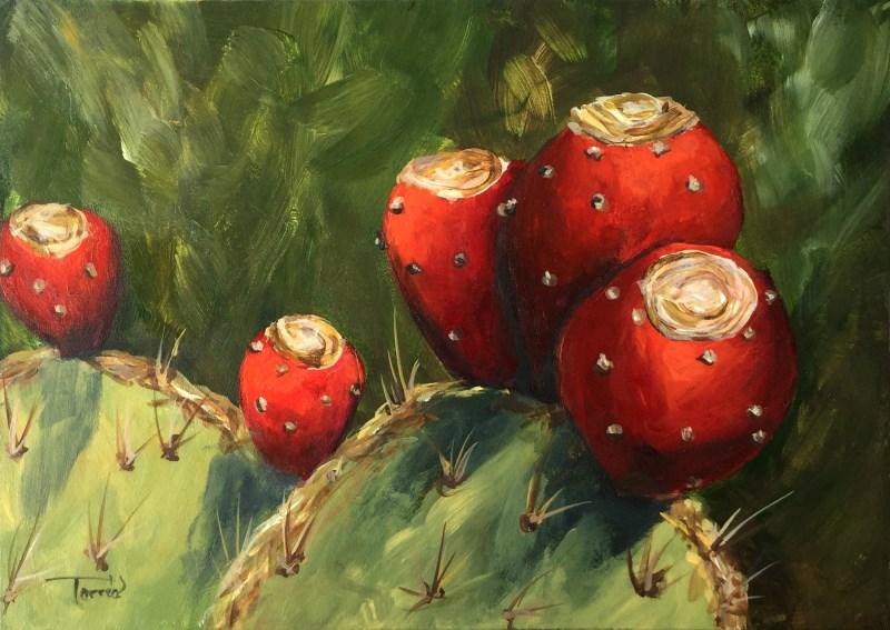 """""""Prickly Pear III"""" original fine art by Torrie Smiley"""