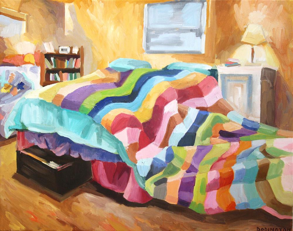 """Runaway Blanket"" original fine art by Jessie Dodington"