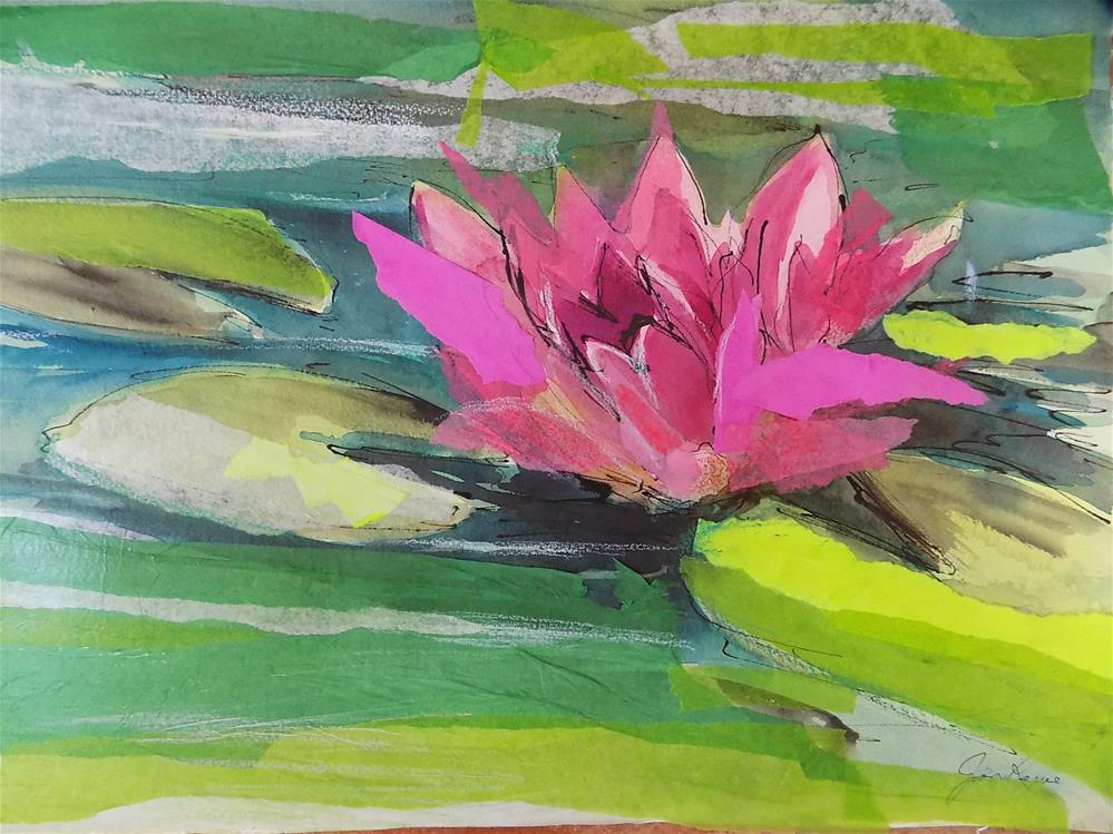 """Water Lily"" original fine art by Joan Reive"