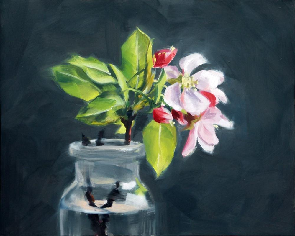 """Apple Blossoms"" original fine art by Deb Anderson"