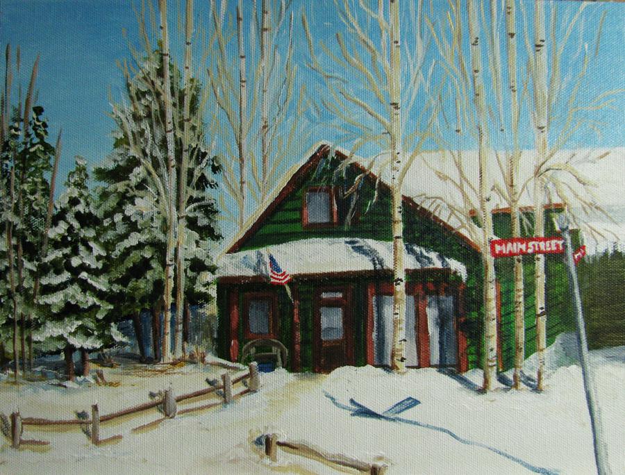 """Main Street USA"" original fine art by Nan Johnson"