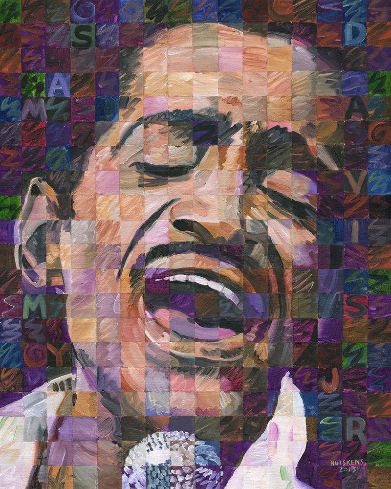 """Sammy Davis Jr."" original fine art by Randal Huiskens"