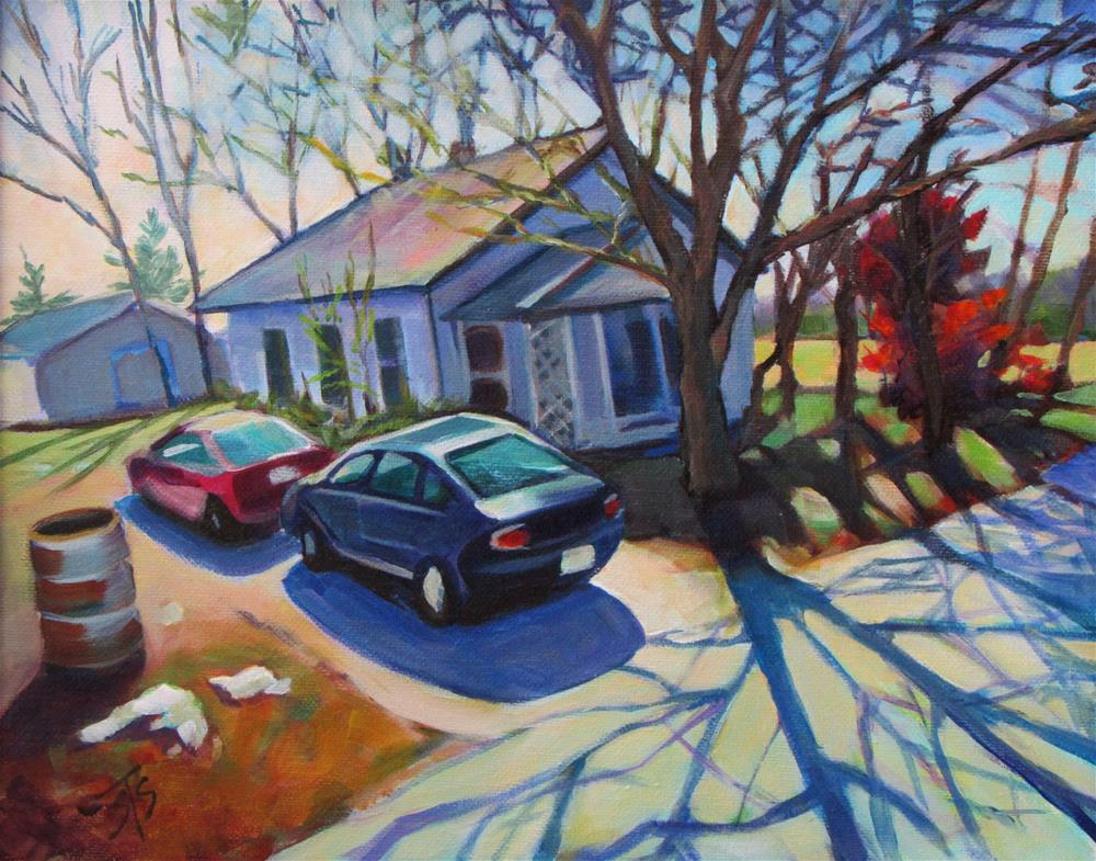 """January"" original fine art by Susan Suraci"