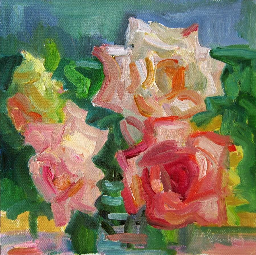 """Pinwheel Rose"" original fine art by Carol Steinberg"