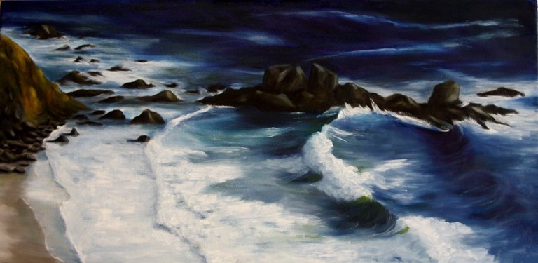 """Highway 1 "" original fine art by Mary Datum"