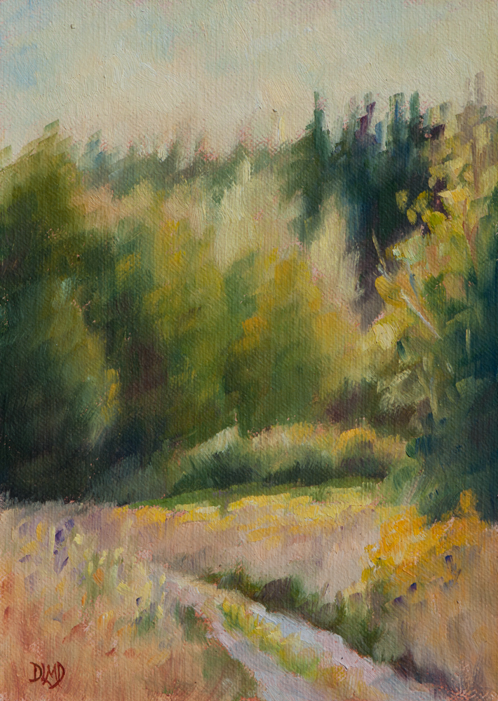 """Rimmed Light"" original fine art by Debbie Lamey-Macdonald"