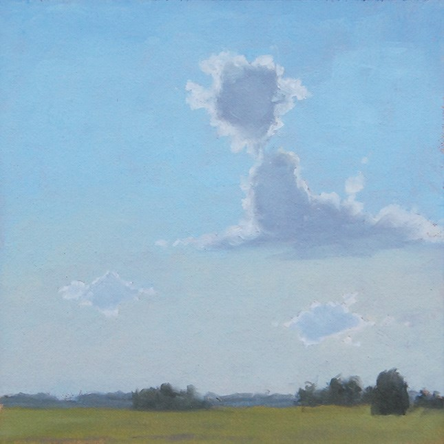 """Late July Sky"" original fine art by Susan Matteson"