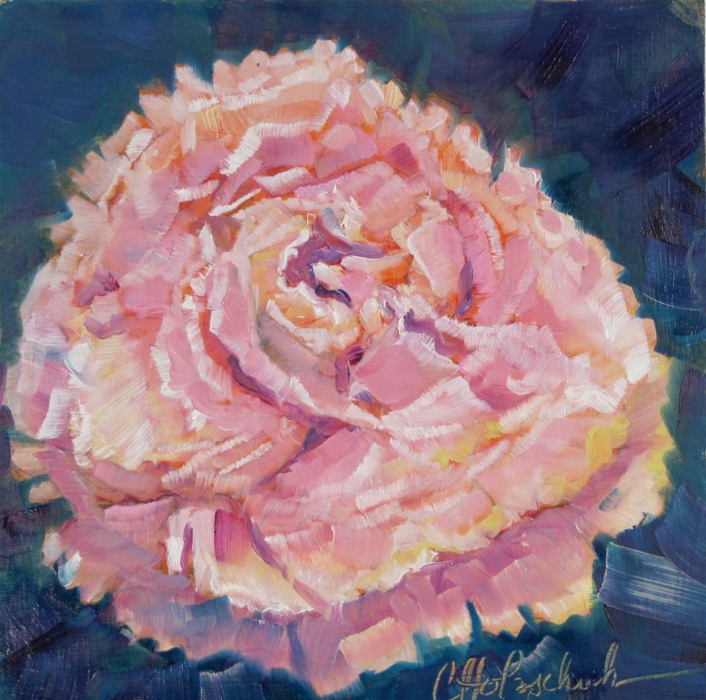 """Pink Peony II"" original fine art by Christine Holzschuh"