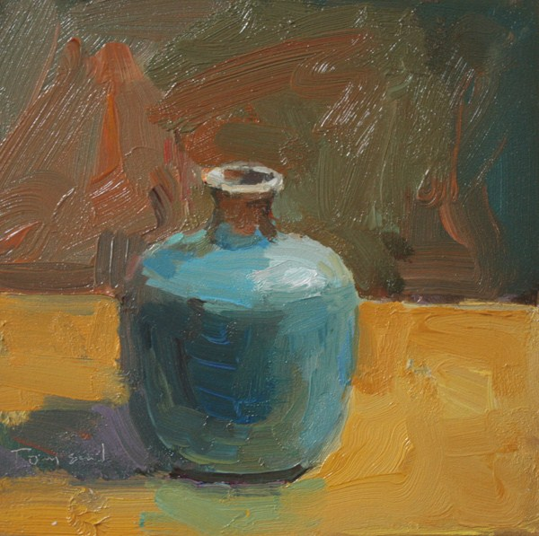 """Blue Pot"" original fine art by Kathryn Townsend"