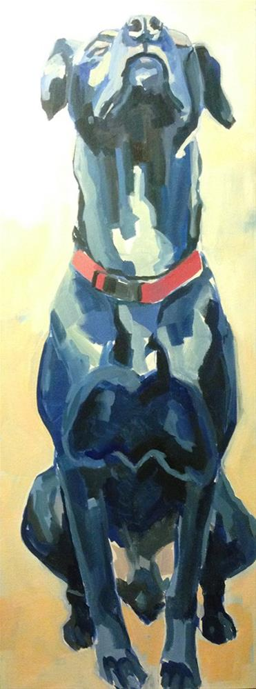 """Zen Dog"" original fine art by Kimberly Santini"