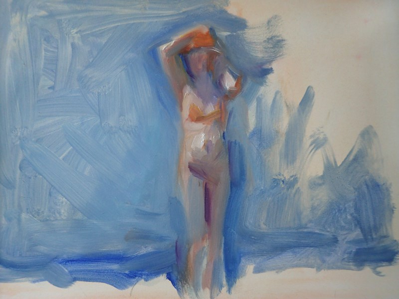 """Standing Beach Figure, Study 1"" original fine art by Sharon Savitz"