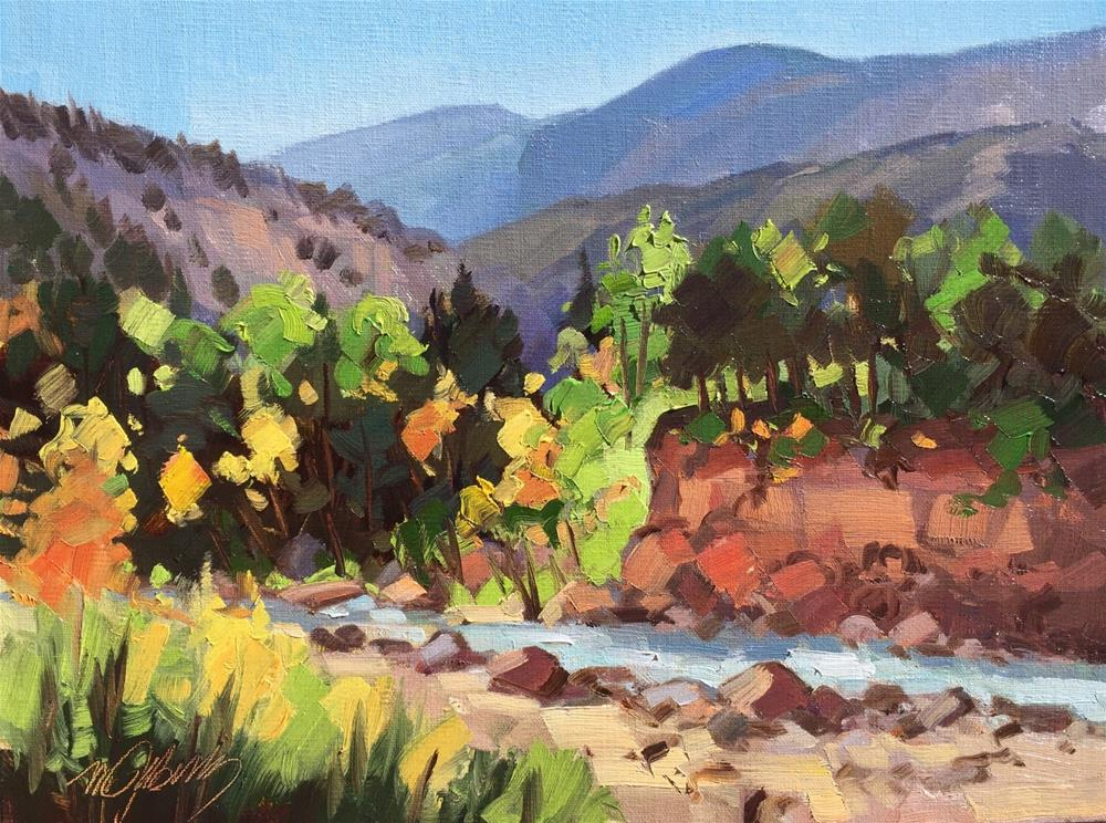 """Fall Color - Coal Creek"" original fine art by Mary Jabens"