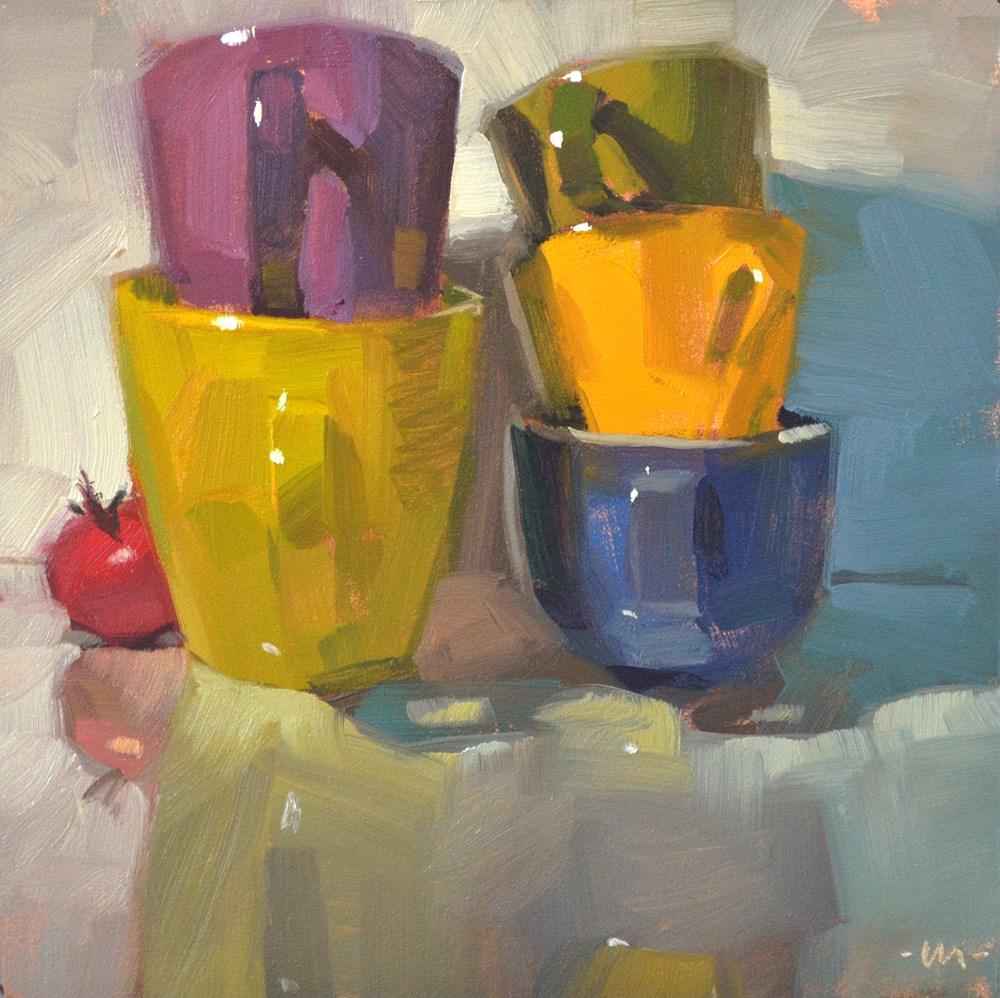 """Hiding in the Stacks"" original fine art by Carol Marine"