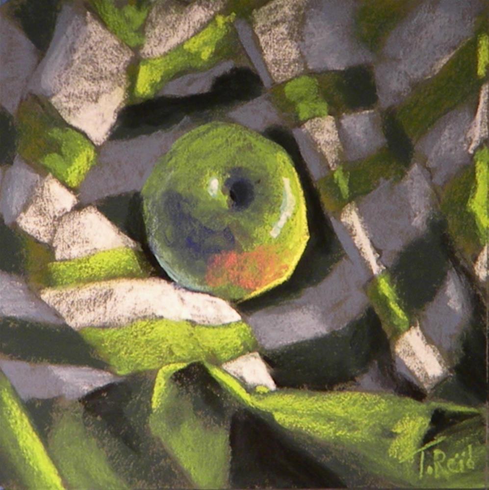 """""""Apple in silk"""" original fine art by Toby Reid"""