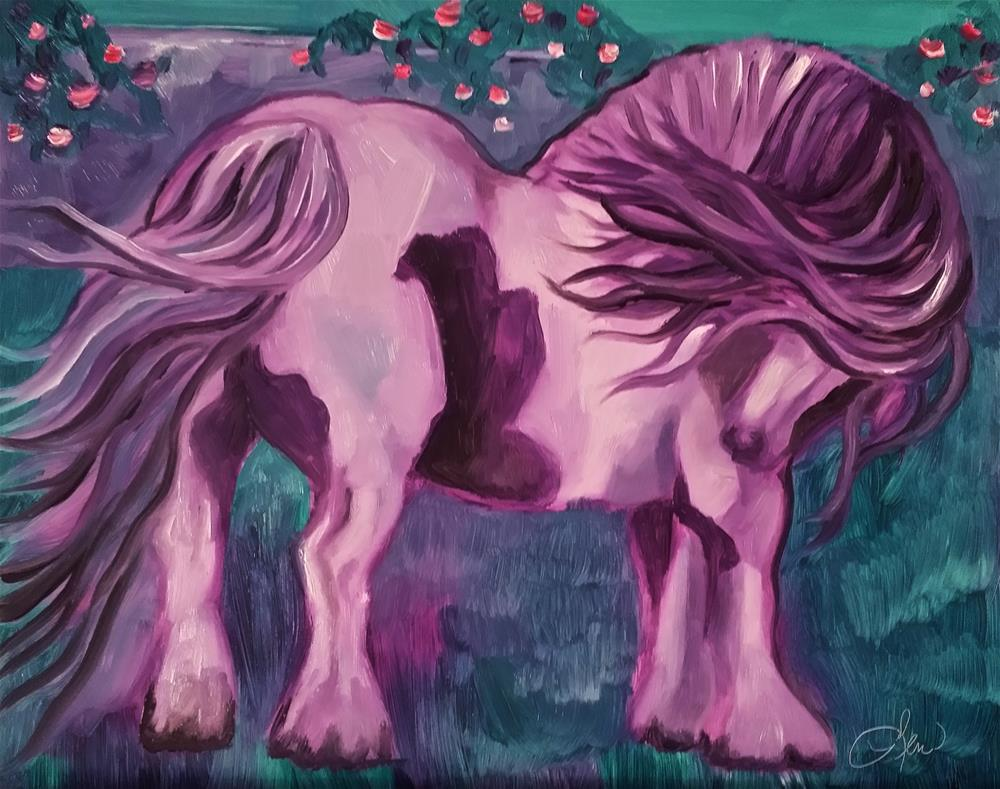 """Gypsy Vanner"" original fine art by Leni Tarleton"