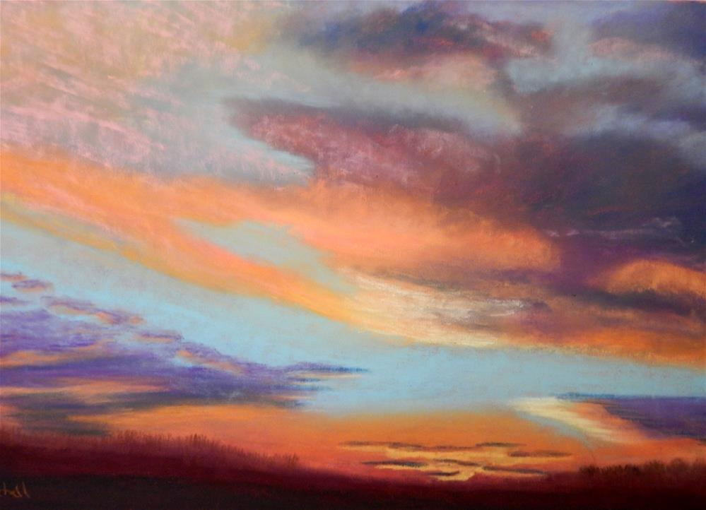 """Late Winter Sunrise"" original fine art by Elaine Shortall"