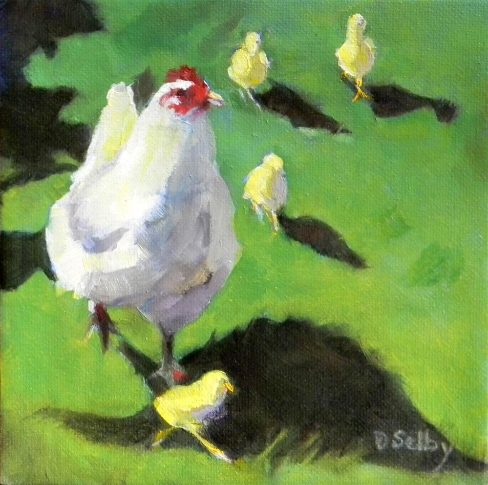 """""""When Mama Runs, We All Run"""" original fine art by De Selby"""