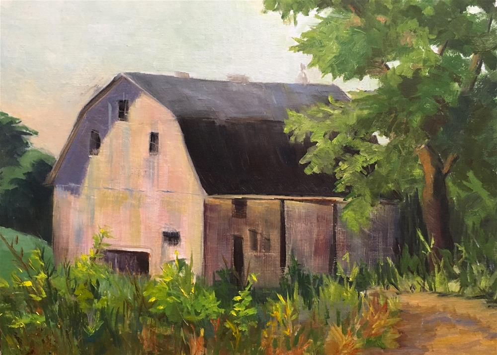 """Colorful Barn"" original fine art by Judith Anderson"