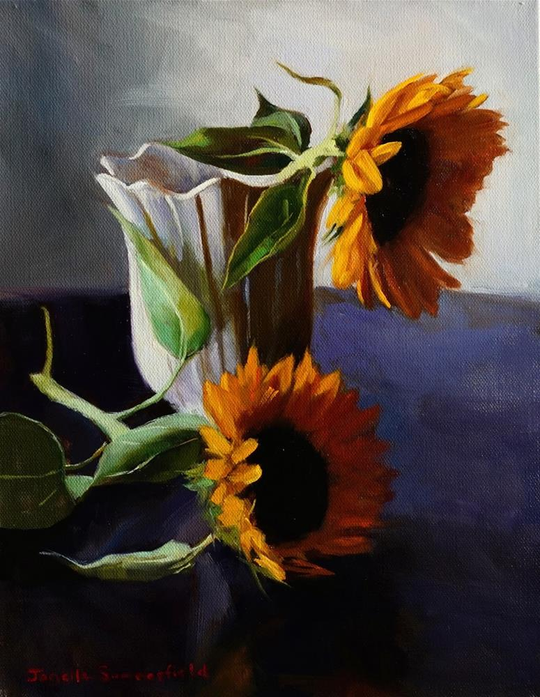"""Sunflowers"" original fine art by Jonelle Summerfield"