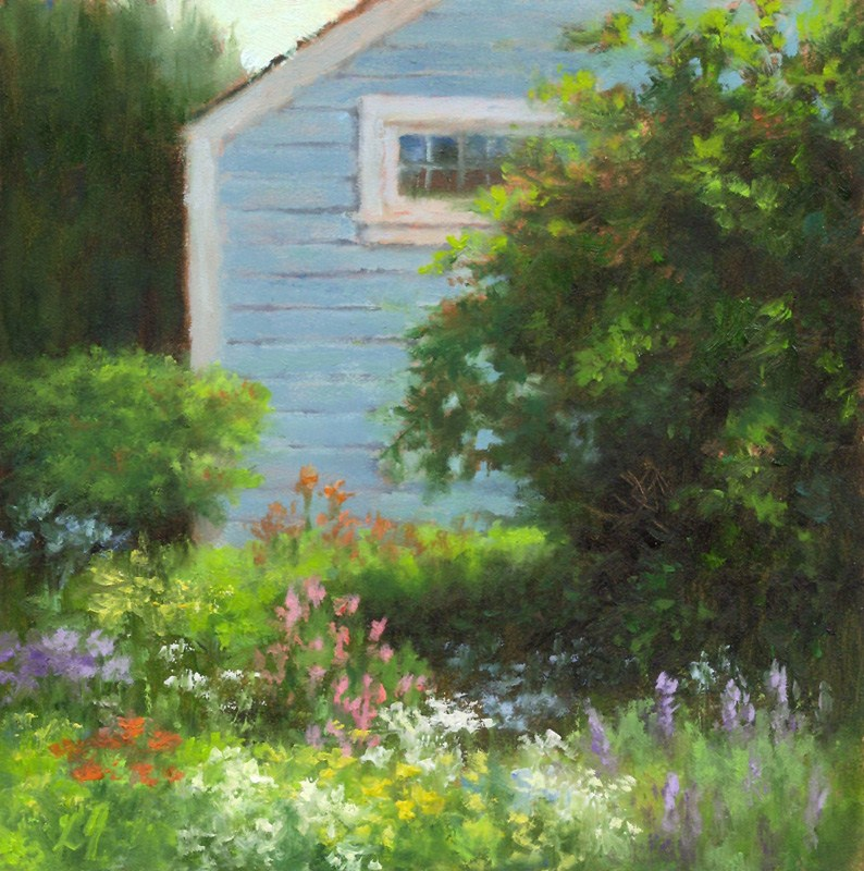 """Cottage Garden"" original fine art by Linda Jacobus"