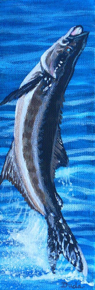 """Threw the Hook"" original fine art by Susan Duda"