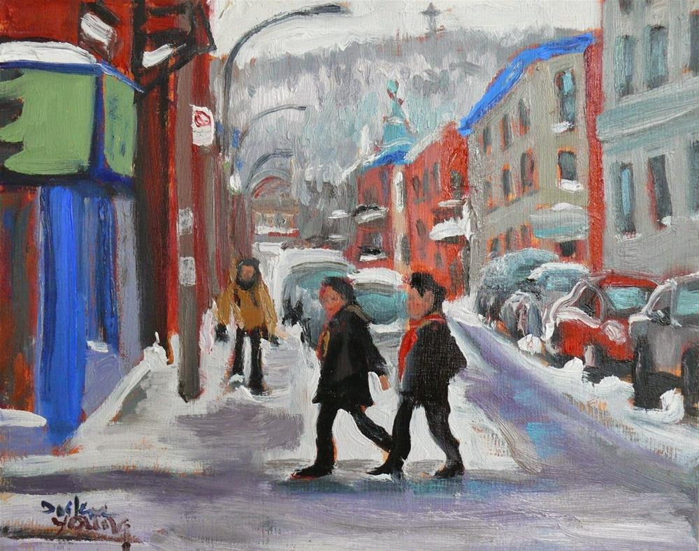 """Le Plateau-Mont-Royal"" original fine art by Darlene Young"