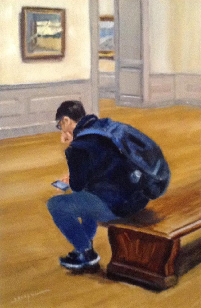 """""""The Thinker"""" original fine art by Shelley Koopmann"""