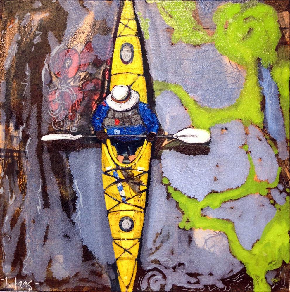 """Yellow"" original fine art by Teresa Haag"