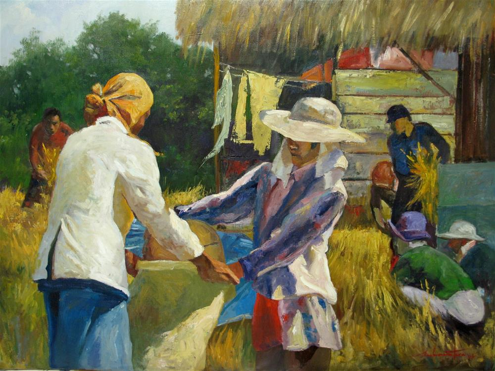 """Harvest"" original fine art by Ann Buenaventura"