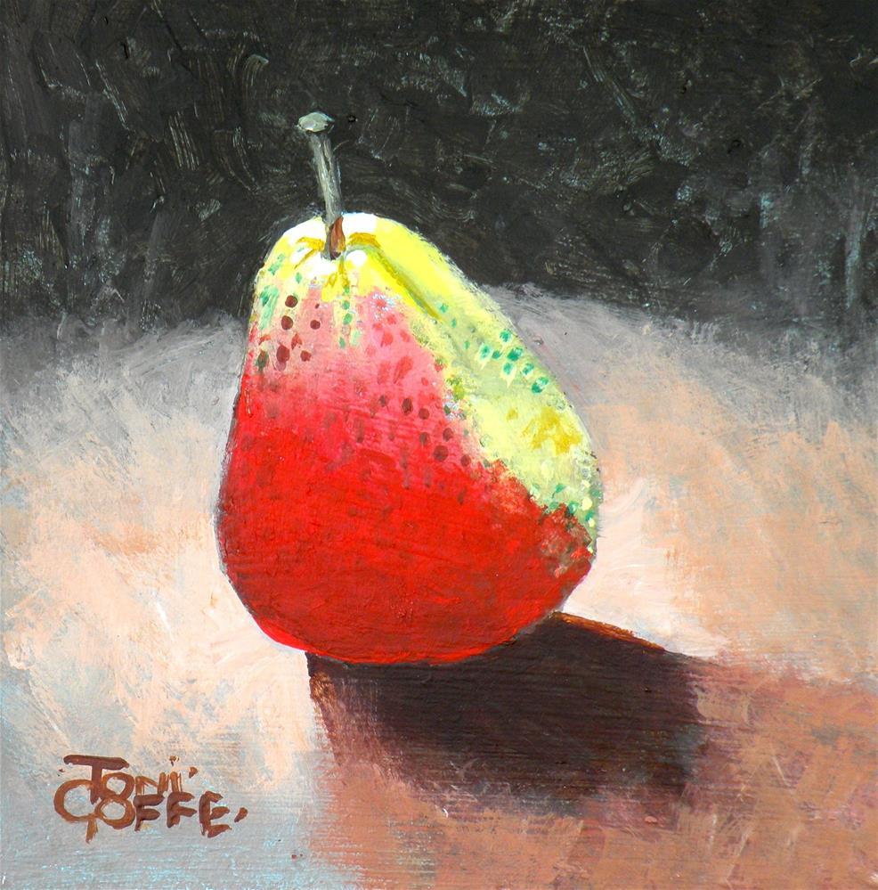 """Pear 1"" original fine art by Toni Goffe"