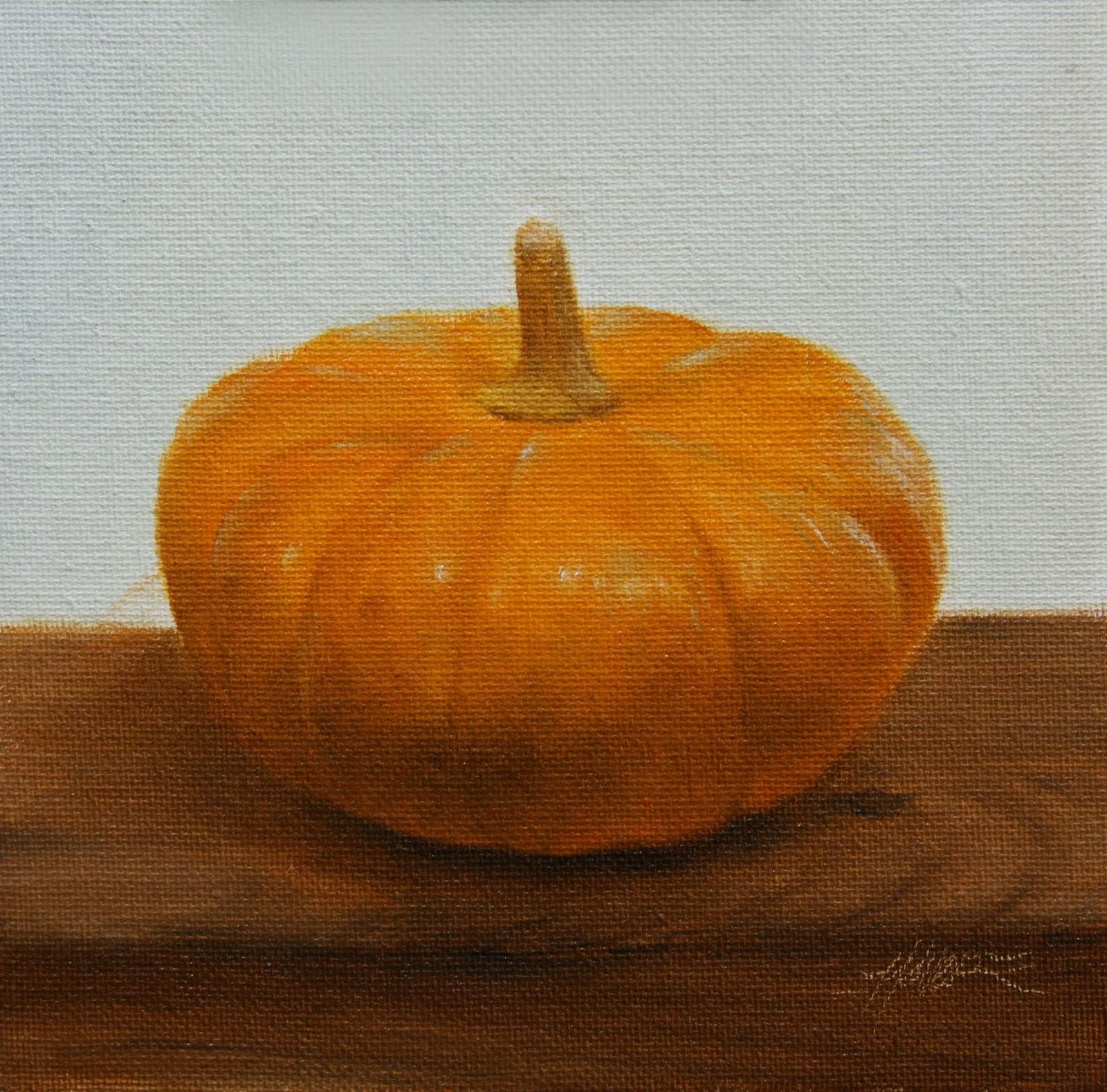 """""""Mini Pumpkin"""" original fine art by Jonathan Aller"""