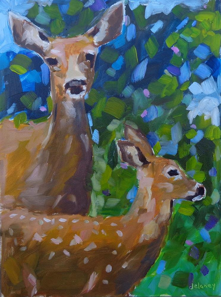"""MOTHERLY LOVE"" original fine art by Jean Delaney"