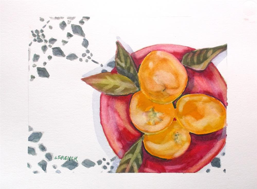 """Backyard Lemons"" original fine art by lynne french"