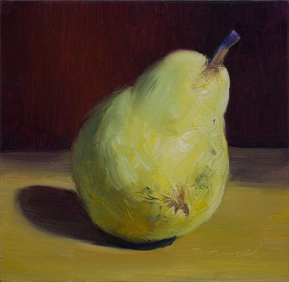 """Pear Study #5"" original fine art by Denise Maxwell"