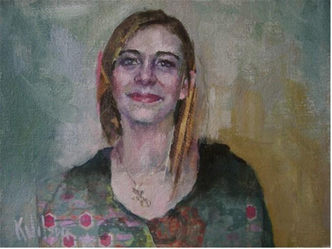 """""""Birthday Necklace"""" original fine art by Katie Wilson"""