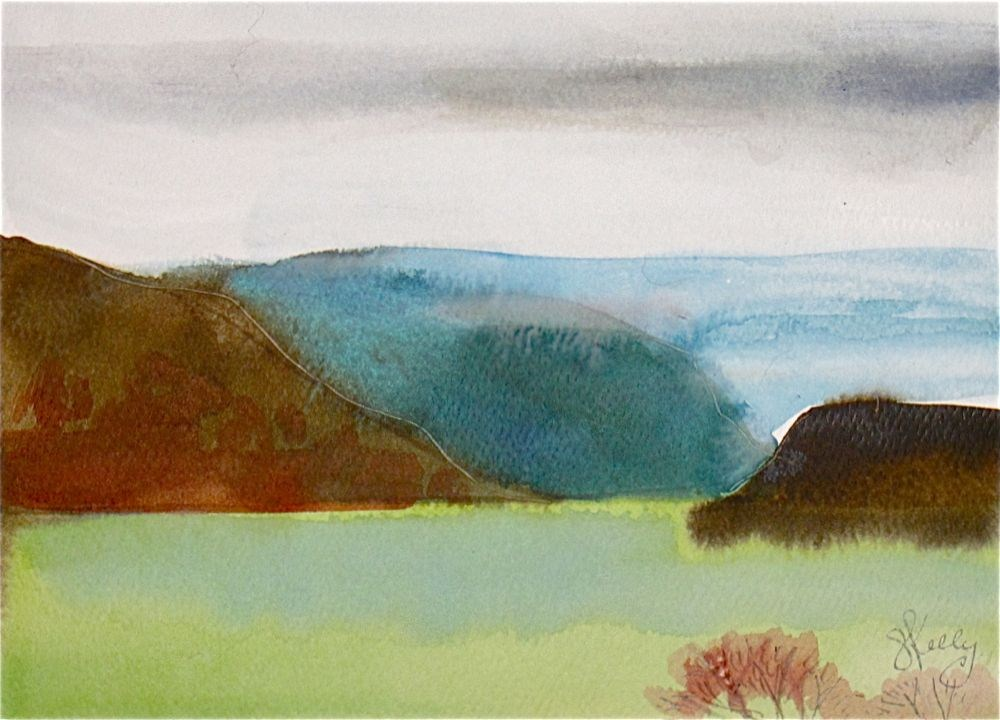 """Bear Mountain on the Hudson by Gretchen Kelly, New York Artist"" original fine art by Gretchen Kelly"