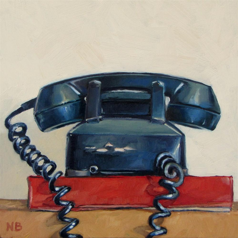 """Phone Book"" original fine art by Nora Bergman"