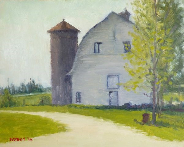 """Deer River Barn"" original fine art by Weston Hobdy"