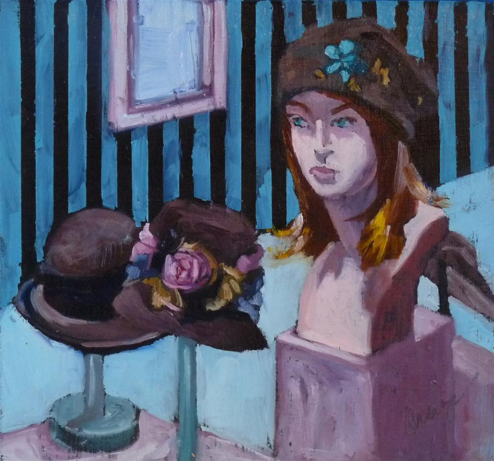 """Hats"" original fine art by Sharman Owings"