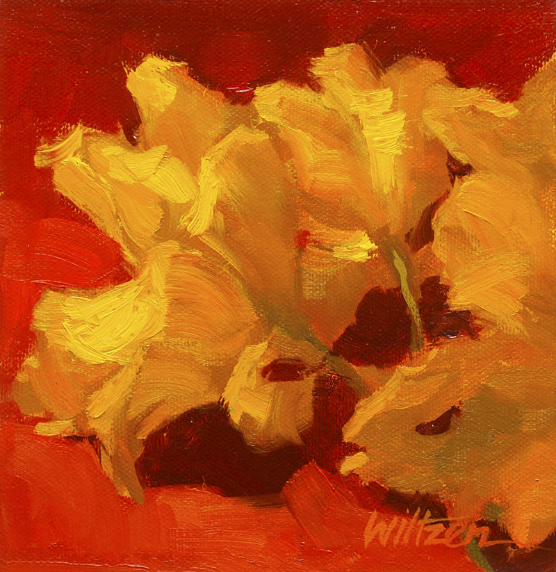 """A Twist on Tulips"" original fine art by Liz Wiltzen"