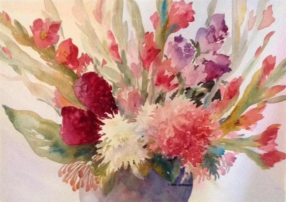 """Ginger and Glads"" original fine art by Libby Anderson"
