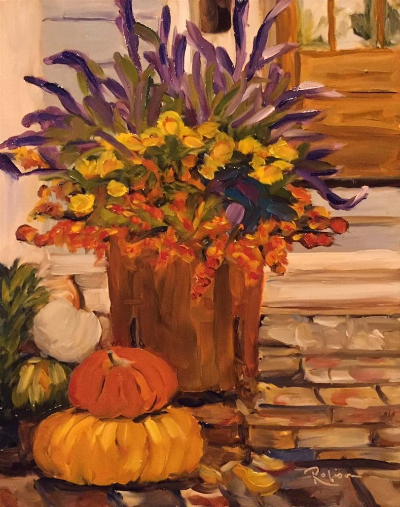 """Fall Front Porch"" original fine art by Renee Robison"