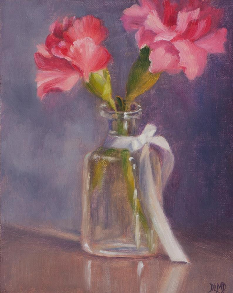 """Daily Sketch: Carnation & Stem"" original fine art by Debbie Lamey-Macdonald"