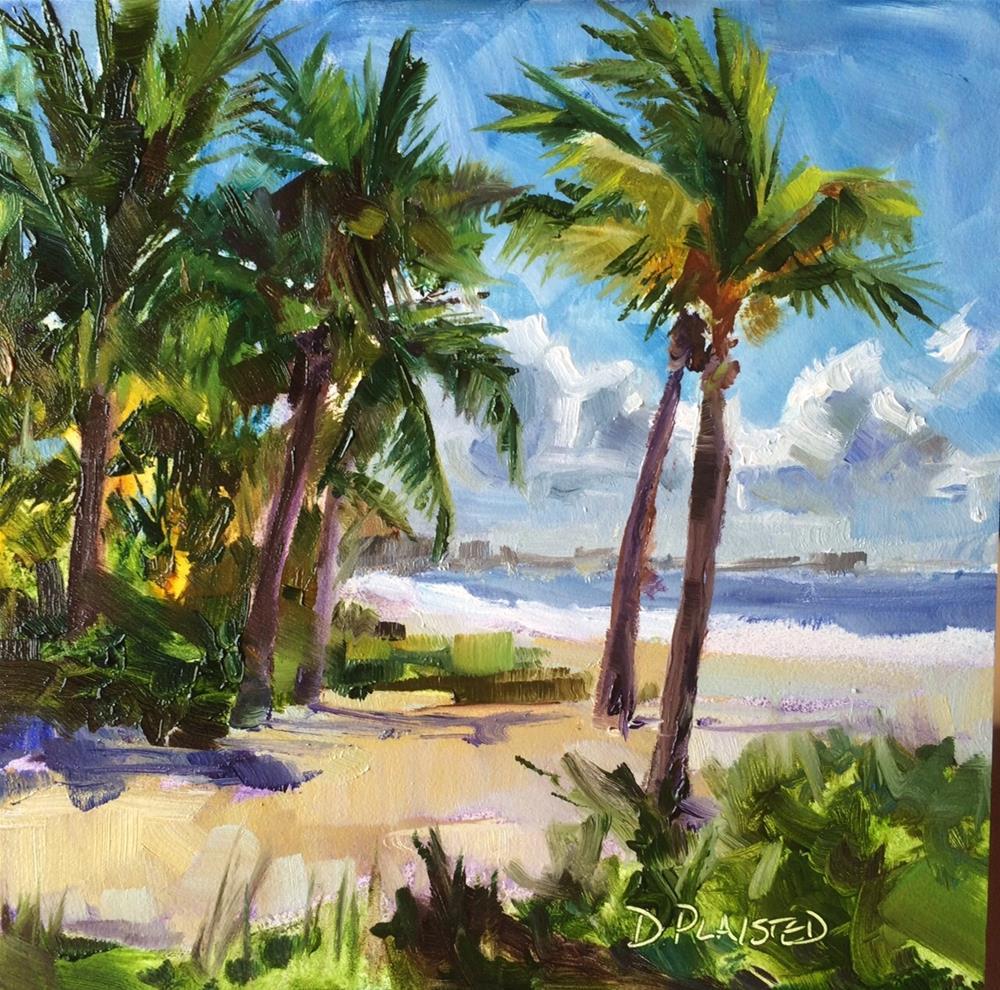 """Fort Myers Palms"" original fine art by Diane Plaisted"